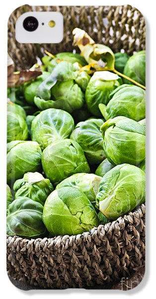 Basket Of Brussels Sprouts IPhone 5c Case by Elena Elisseeva