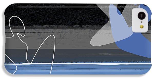 Figurative iPhone 5c Case - Blue Girls by Naxart Studio