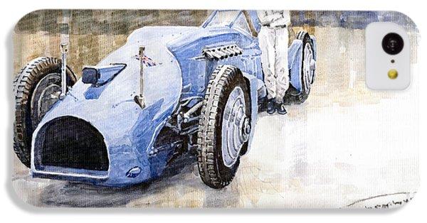 Bluebird iPhone 5c Case - Bluebird 1933 Daytona Malkolm Campbell by Yuriy Shevchuk