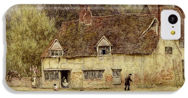 By The Old Cottage IPhone 5c Case by Helen Allingham