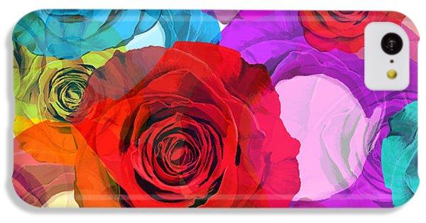 Rose iPhone 5c Case - Colorful Floral Design  by Setsiri Silapasuwanchai