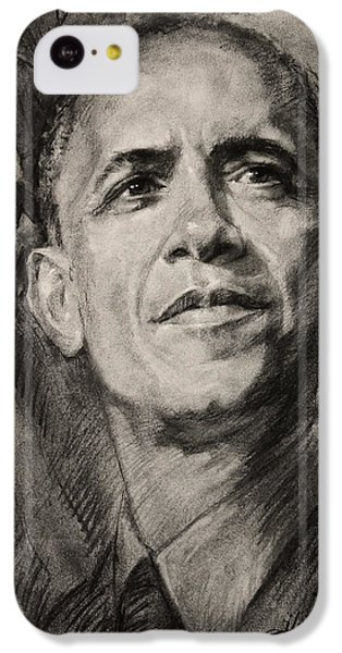 Barack Obama iPhone 5c Case - Commander-in-chief by Ylli Haruni