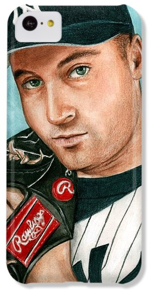 Derek Jeter  IPhone 5c Case by Bruce Lennon