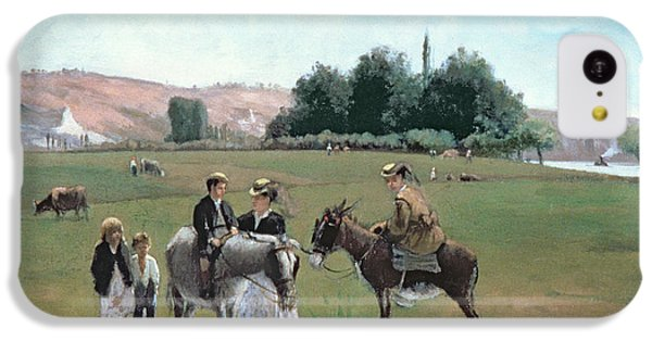 Donkey Ride IPhone 5c Case by Camille Pissarro