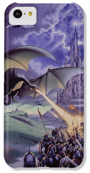 Dragon Combat IPhone 5c Case by The Dragon Chronicles - Steve Re
