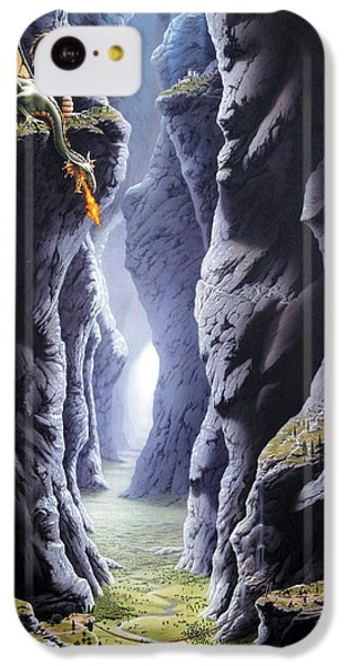 Dragons Pass IPhone 5c Case by The Dragon Chronicles - Steve Re