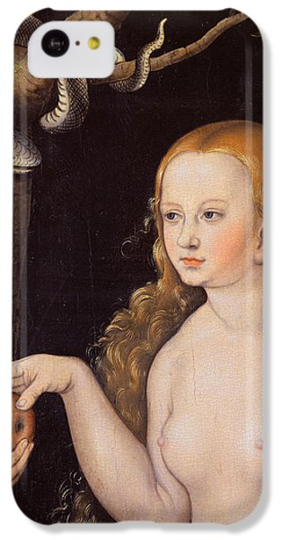 Eve Offering The Apple To Adam In The Garden Of Eden And The Serpent IPhone 5c Case by Cranach