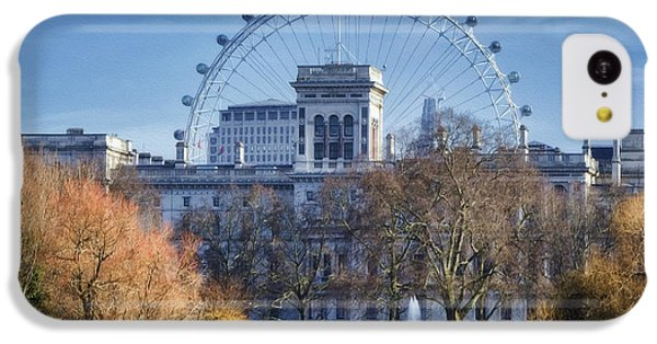 London Eye iPhone 5c Case - Eyeing The View by Joan Carroll