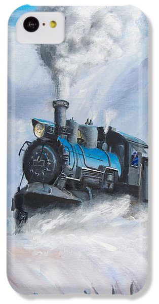 Train iPhone 5c Case - First Train Through by Christopher Jenkins