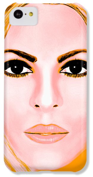 Shakira iPhone 5c Case - Gold Shakira by Mathieu Lalonde
