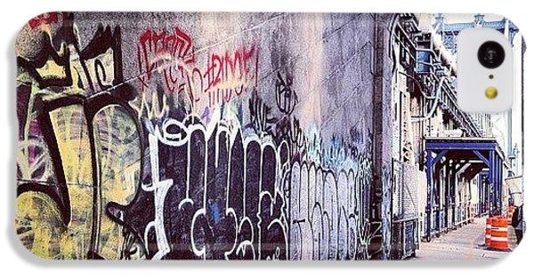 Summer iPhone 5c Case - Graffiti Bridge by Randy Lemoine