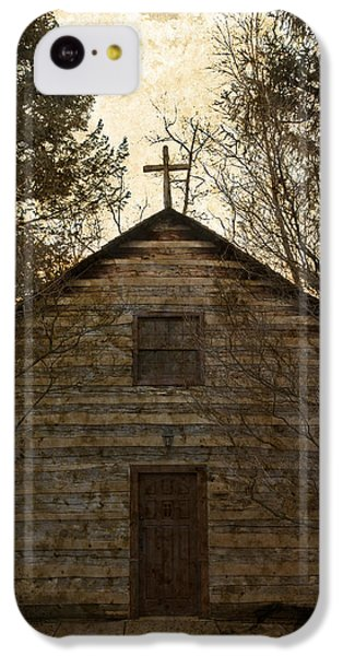 Grungy Hand Hewn Log Chapel IPhone 5c Case