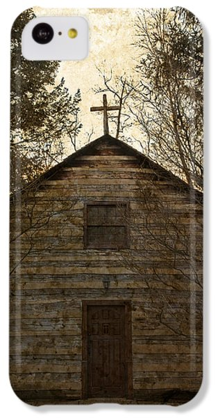 Grungy Hand Hewn Log Chapel IPhone 5c Case by John Stephens