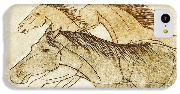 IPhone 5c Case featuring the drawing Horse Sketch by Nareeta Martin