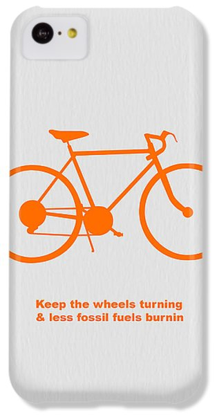 Bicycle iPhone 5c Case - Keep The Wheels Turning by Naxart Studio