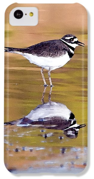 Killdeer Reflection IPhone 5c Case by Betty LaRue