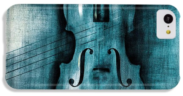 Violin iPhone 5c Case - Le Violon Bleu by Hakon Soreide