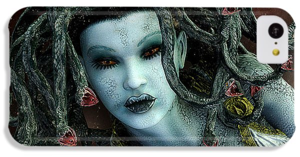 Gorgon iPhone 5c Case - Medusa by Jutta Maria Pusl