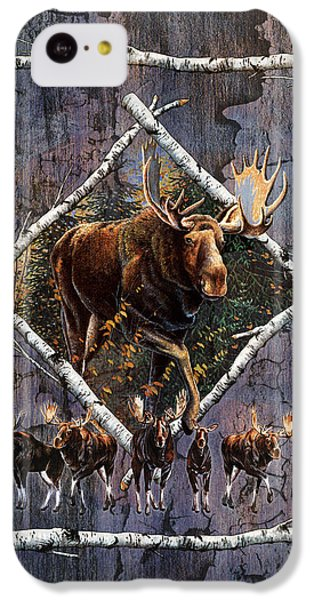 Bull iPhone 5c Case - Moose Lodge by JQ Licensing