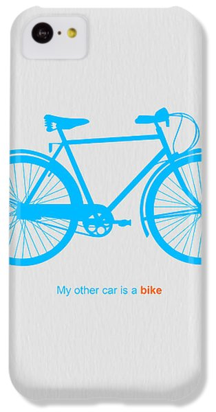 Bicycle iPhone 5c Case - My Other Car Is A Bike  by Naxart Studio