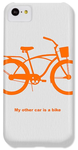 Bicycle iPhone 5c Case - My Other Car Is Bike by Naxart Studio