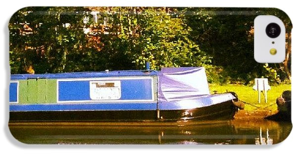 Narrowboat In Blue IPhone 5c Case