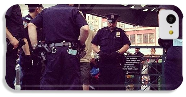 Blue iPhone 5c Case - Nypd by Randy Lemoine