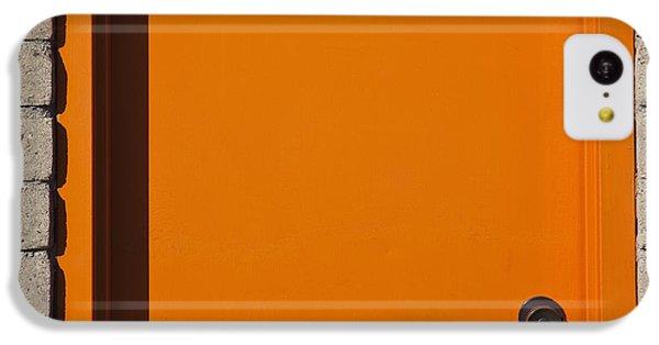 Orange iPhone 5c Case - Orange Box Office Door by Paul Edmondson