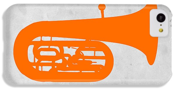 Orange Tuba IPhone 5c Case by Naxart Studio