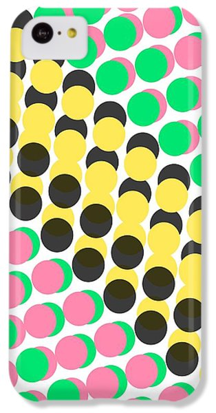 Overlayed Dots IPhone 5c Case by Louisa Knight