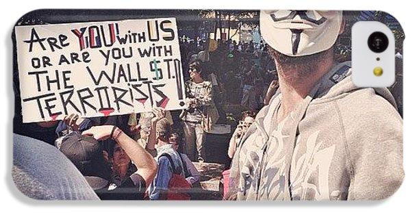 City iPhone 5c Case - Ows Occupy Wall Street by Randy Lemoine