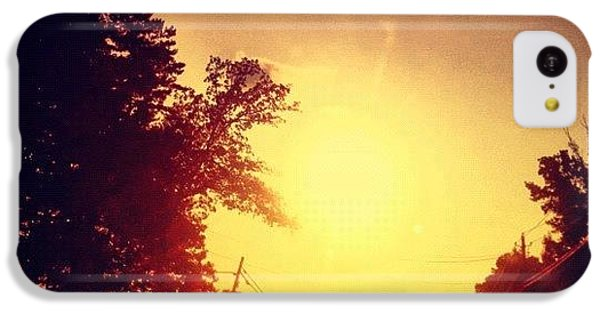 Edit iPhone 5c Case - Picking Up Dinner #driving #sunset #sun by Katie Williams