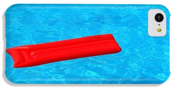 Cool iPhone 5c Case - Pool - Blue Water And Red Airbed by Matthias Hauser