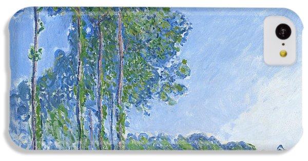 Impressionism iPhone 5c Case - Poplars by Claude Monet