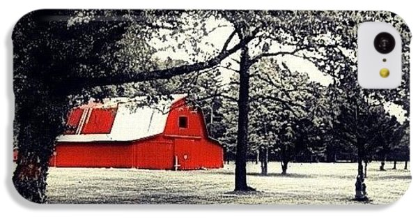 Edit iPhone 5c Case - Red Barn by Mari Posa
