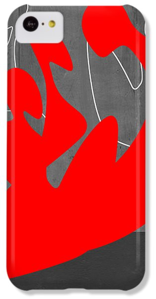 Figurative iPhone 5c Case - Red People by Naxart Studio