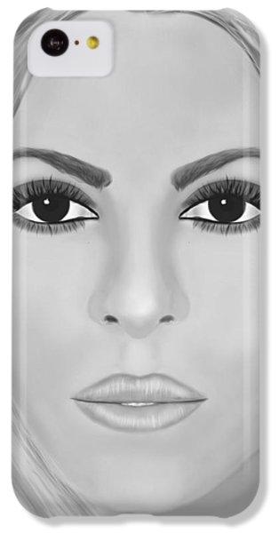 Shakira iPhone 5c Case - Shakira Black And White by Mathieu Lalonde