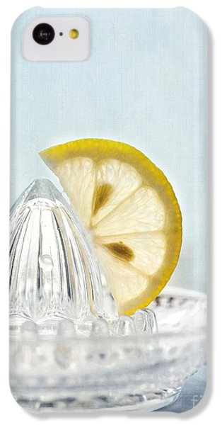 Still Life With A Half Slice Of Lemon IPhone 5c Case by Priska Wettstein