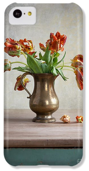 Tulip iPhone 5c Case - Still Life With Tulips by Nailia Schwarz