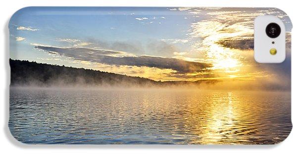 Beautiful Sunrise iPhone 5c Case - Sunrise On Foggy Lake by Elena Elisseeva