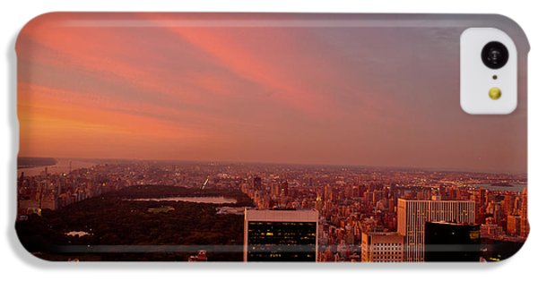 City Sunset iPhone 5c Case - Sunset Over Central Park And The New York City Skyline by Vivienne Gucwa