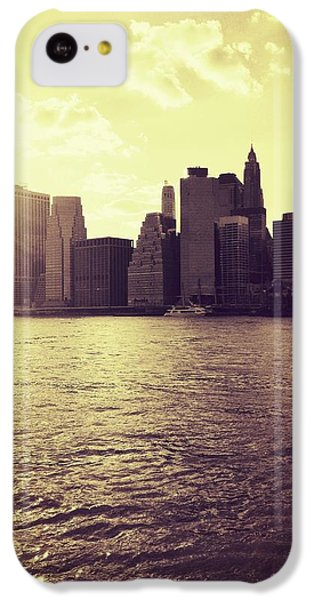 City iPhone 5c Case - Sunset Over Manhattan by Vivienne Gucwa