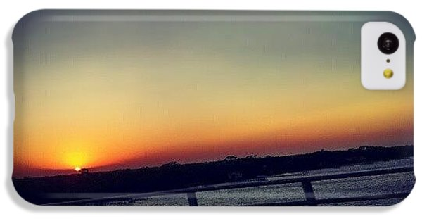 #sunset #rainbow #cool #bridge #driving IPhone 5c Case
