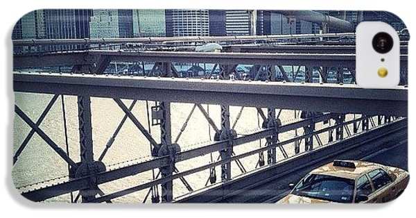 Summer iPhone 5c Case - Taxi On Bridge by Randy Lemoine