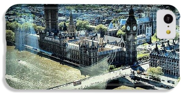 London iPhone 5c Case - Thames River, View From London Eye | by Abdelrahman Alawwad