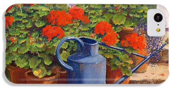 Garden iPhone 5c Case - The Blue Watering Can by Anthony Rule