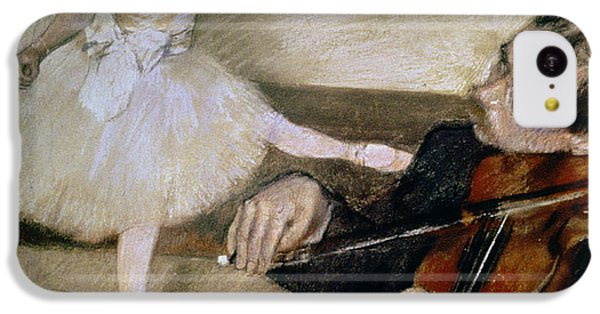 Violin iPhone 5c Case - The Dance Lesson by Edgar Degas