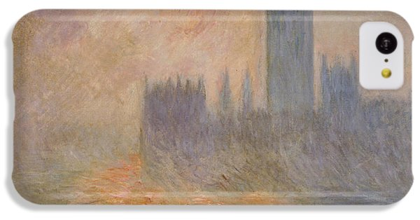 The Houses Of Parliament At Sunset IPhone 5c Case by Claude Monet