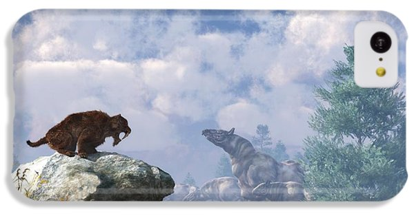 The Paraceratherium Migration IPhone 5c Case by Daniel Eskridge