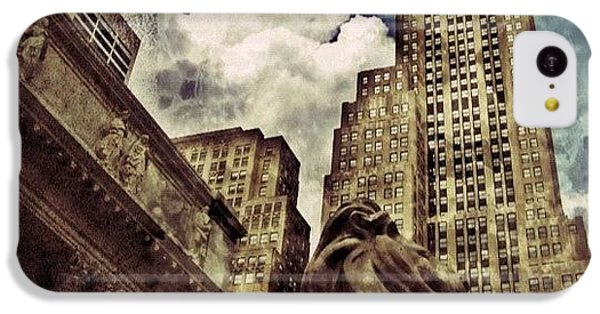 Sky iPhone 5c Case - The Resting Lion - Nyc by Joel Lopez